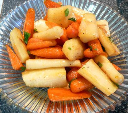 Skillet -Roasted Carrots and Parsnips