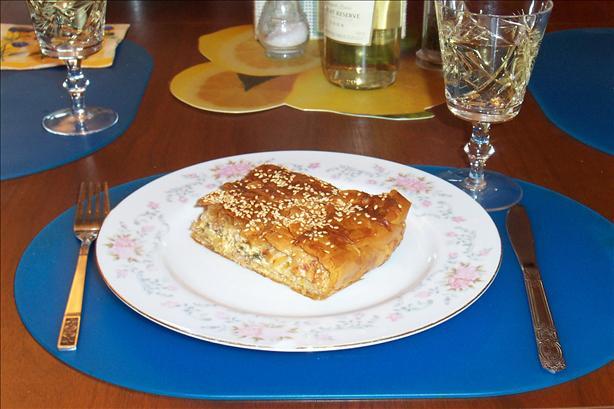 Melitzanopita (Greek Pie Using Eggplant (Aubergine) )