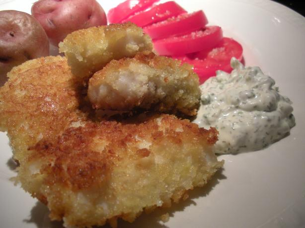 Halibut Fish Sticks With Dill-Caper Tartar Sauce