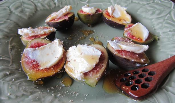 Simple Fig & Mascarpone Dessert (Or Tapas)