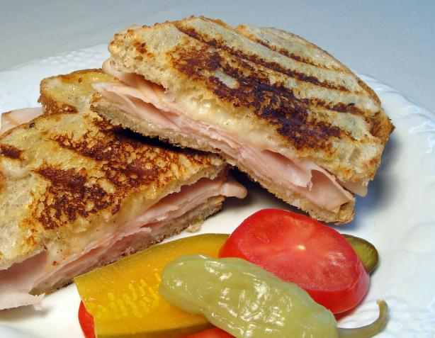 Grilled Turkey and Provolone on Garlic & Herb Bread
