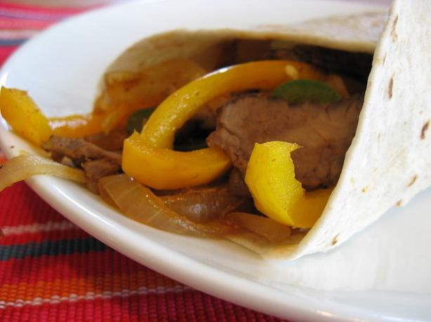 Easy Beef or Chicken Fajitas