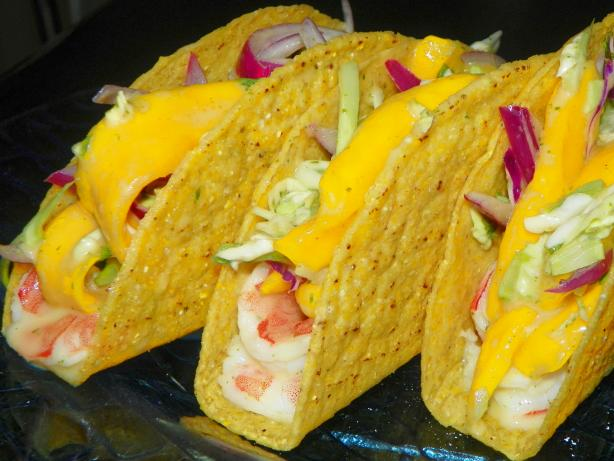 Shrimp Taco With Mango Slaw
