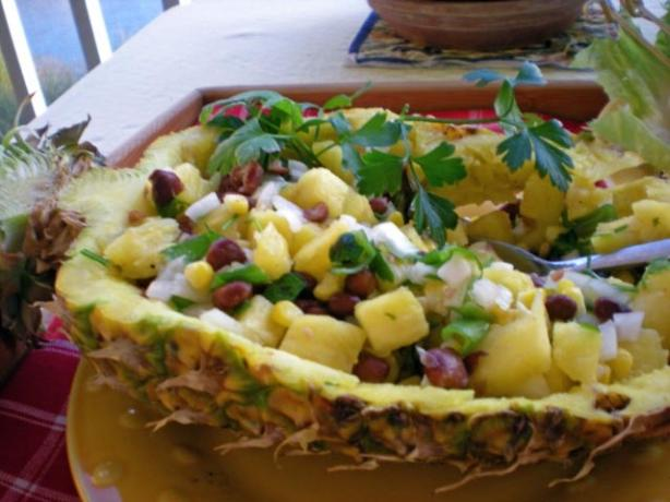 Black Bean and Mango Pineapple Salsa