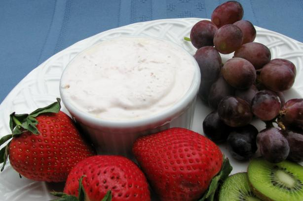 Fresh Fruit With Strawberry Cream Cheese Dressing