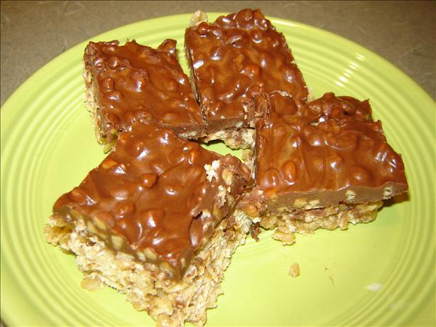 Microwave Buckaroo Bars (chocolate, Peanut Butter & Oatmeal)
