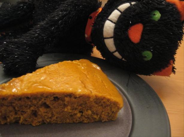 Pumpkin Spice Cake with Orange Sauce
