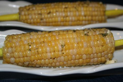 Corn on the Cob With Garlic Herb Butter (Crock Pot)