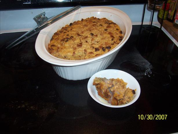 Pumpkin Bread Pudding With Dutch Honey Syrup