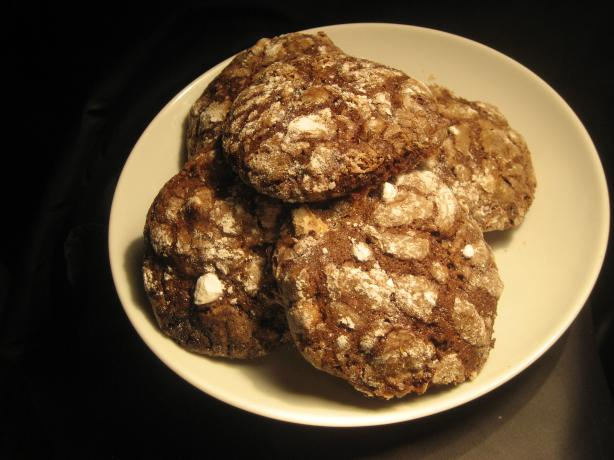 Chocolate Crackle-Top Biscuits