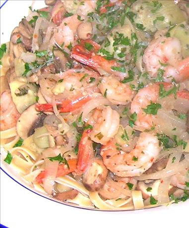 Low Fat Zesty Shrimp and Pasta