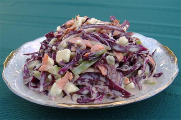 Blue Cheese Coleslaw Salad