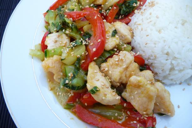 Orange-Sesame Chicken & Vegetable Stir Fry