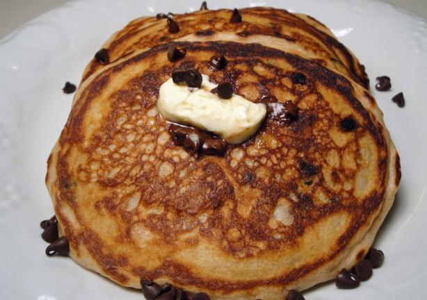 Chocolate Chip Sour Cream Pancakes, Diabetic