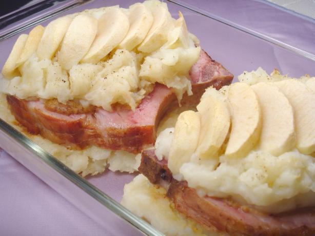 Smoked Pork Chops With Potatoes & Sauerkraut