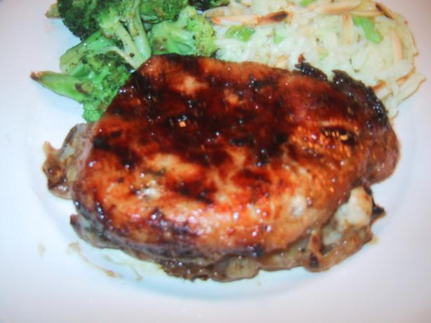 Sweet N Spicy Stuffed Pork Chops