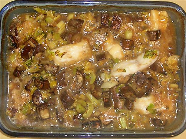 Fish & Eggplant (Aubergine) Casserole