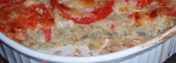 Tomato-Eggplant (Aubergine) Casserole