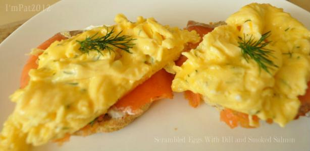 Scrambled Eggs With Dill and Smoked Salmon