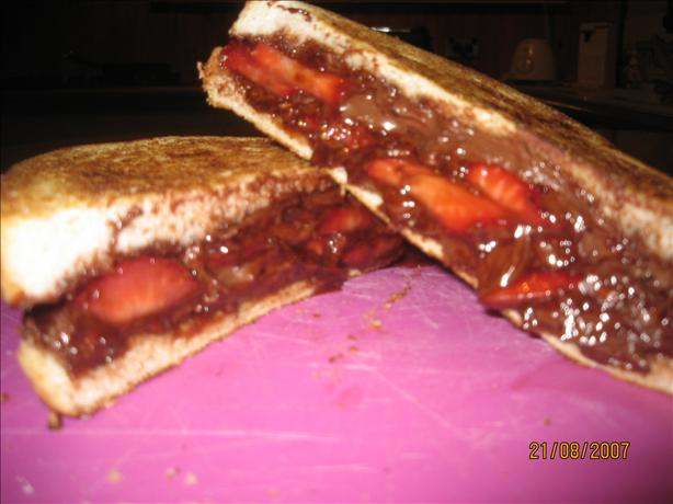 Strawberry Chocolate Hazelnut Toasties