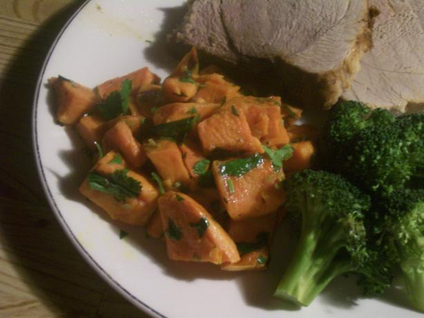Core Spicy Sweet Potatoes With Tangy Lime and Cilantro