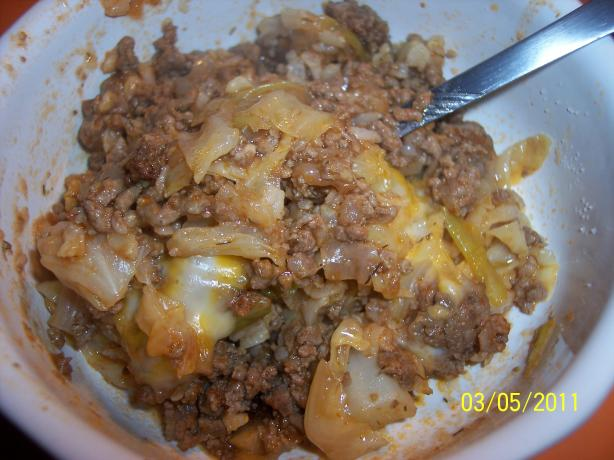 Cabbage Beef Casserole (Ww 5 Points)