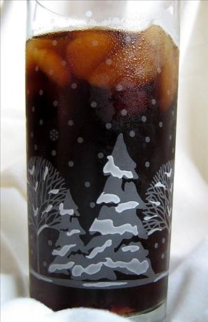 Iced Coffee With Ice Coffee Cubes