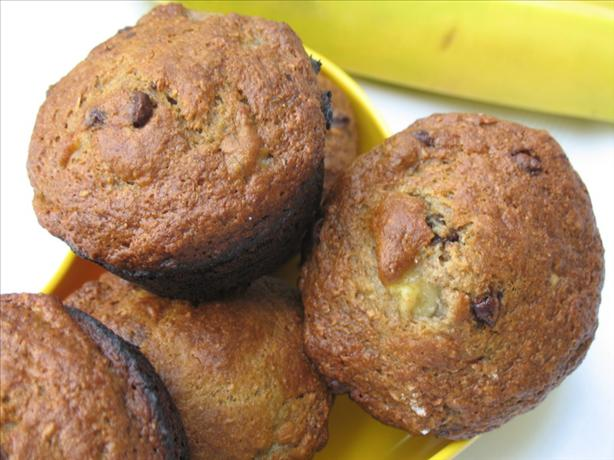 Totally Decadent Banana-Chocolate Chip Muffins (Light)