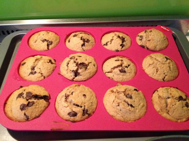 Whole Wheat Banana Chocolate Chip Muffins