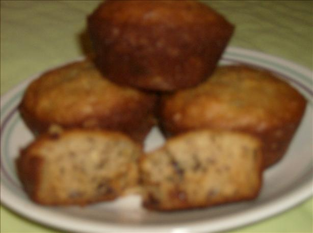 Banana Peanut Butter Chip Muffins (Light)