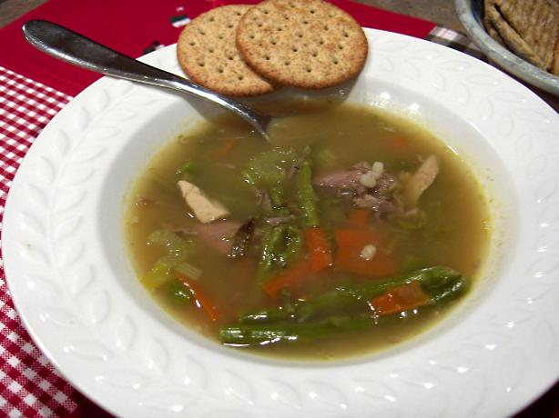 Turkey Leftovers - Barley Soup