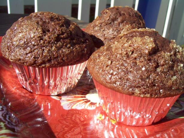 Chocolate-Chocolate Chunk Muffins