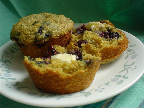 Blueberry Oat Bran Muffins