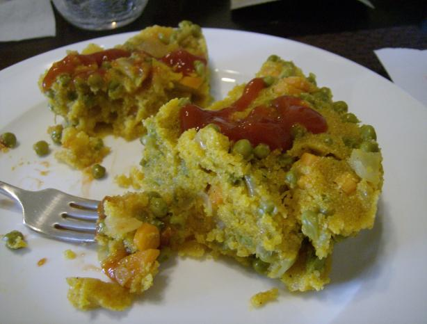No Crust Cornmeal/Polenta Vegetable Pie