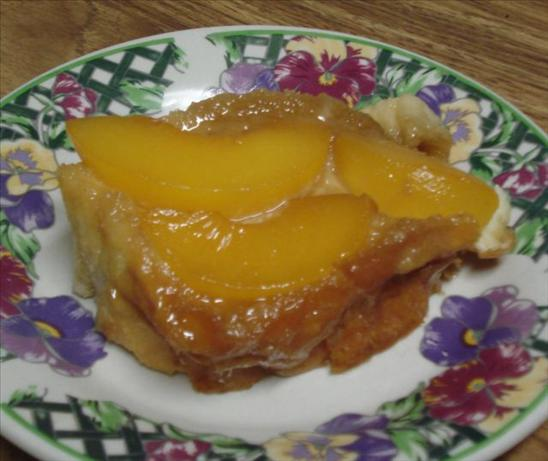 peach upside-down french toast