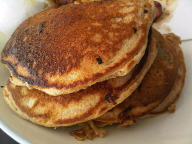 Banana Pecan Whole Wheat Pancakes