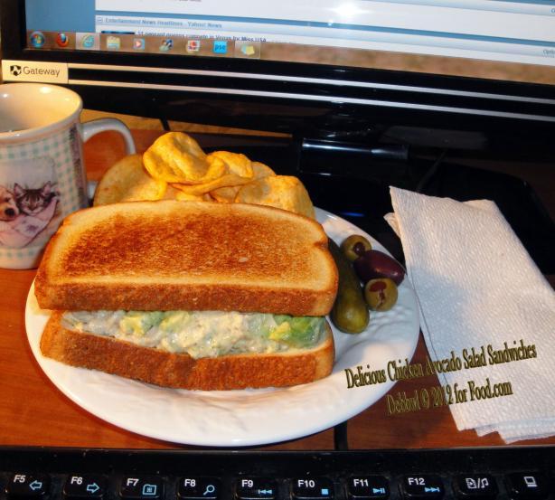 Delicious Chicken Avocado Salad Sandwiches