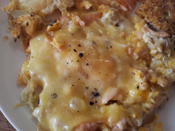 Lox & Onion Omelet