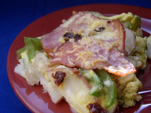 Potato, Ham & Cheese Frittata