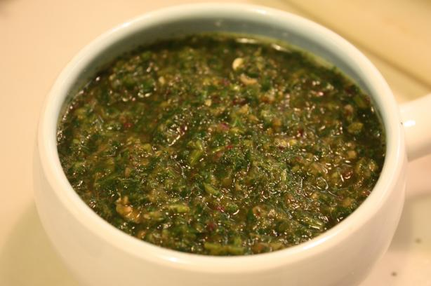 Ground Cilantro (coriander) Chutney