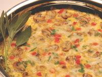 Easy Mushroom and Cheese Frittata