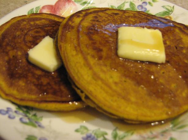 Pumpkin Spice Puffed Pancakes