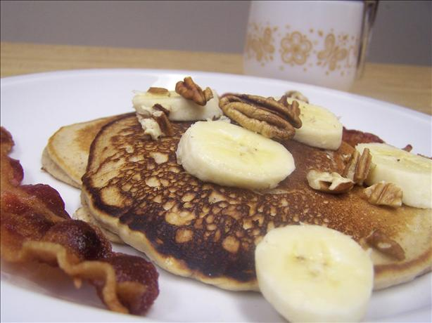 Banana Pecan Buttermilk Pancakes
