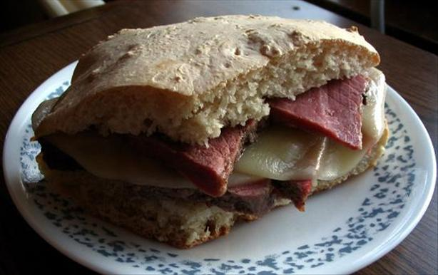 Leftover Corned Beef Sandwich
