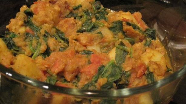 Simple Sag Aloo (Indian Potato and Spinach)