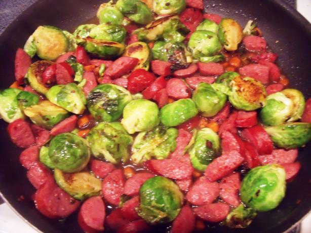 Savory Brussels Sprouts With Smoked Sausage