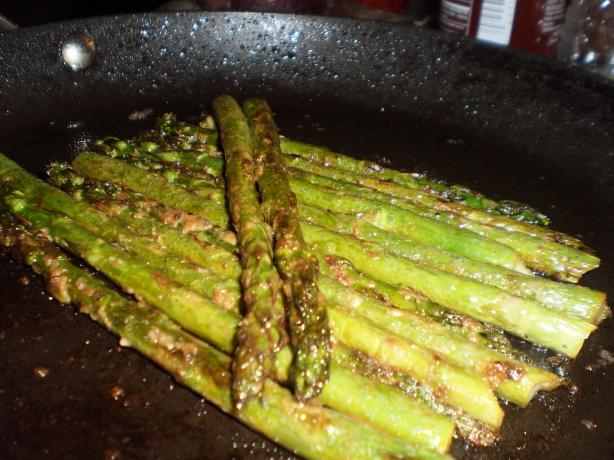 Asparagus Sauteed in Butter and Mustard