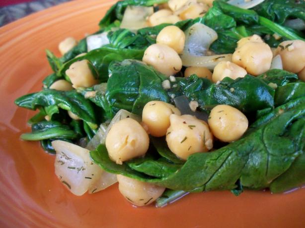 Greek Chickpeas & Spinach