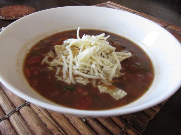 Creamy Tortilla Soup-Vegetarian