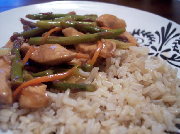 Lemon Chicken and Asparagus Stir Fry